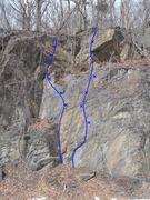 Rock Climbing Photo: South Of the waterfall