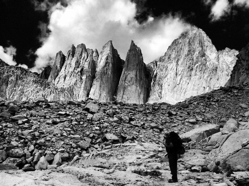 Rock Climbing Photo: Pops and the Whitney Massif!!!