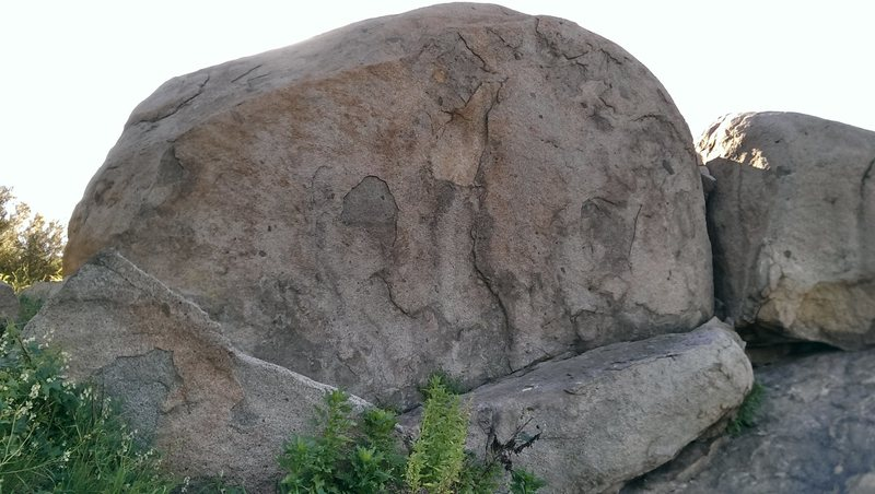Rock Climbing Photo: There are a few different mantle possibilities on ...