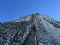Rock Climbing Photo: Looking up P5
