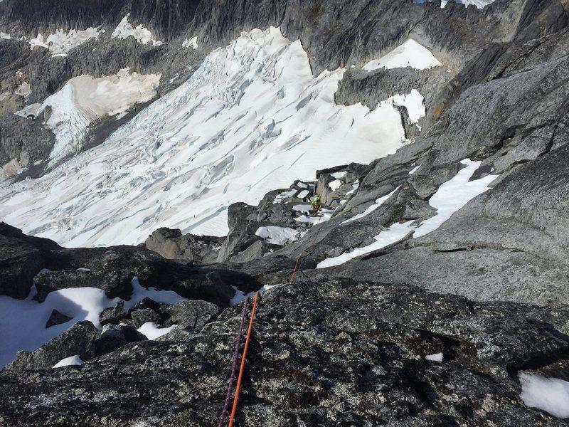Rock Climbing Photo: 4th class ridgeline to summit