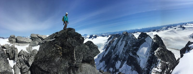 Rock Climbing Photo: Summit pano