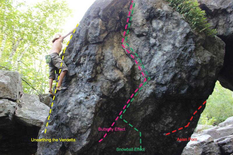 Rock Climbing Photo: The downstream side of the Rock Bridge