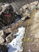 Rock Climbing Photo: New trail going by Pi Boulder.