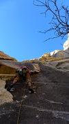 Rock Climbing Photo: Eric starting P1