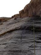 Rock Climbing Photo: Eric leading P3