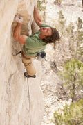 Rock Climbing Photo: Tyrell on Spanish Fly, 5.12c  Photo credit goes to...