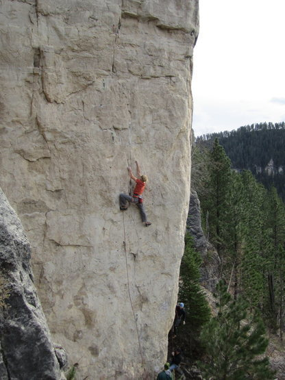 Big Tone on Spanish Fly, 5.12c<br> <br> Photo credit goes to C. Baird.