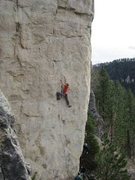 Rock Climbing Photo: Big Tone on Spanish Fly, 5.12c  Photo credit goes ...