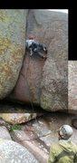 Rock Climbing Photo: lee getting all weird