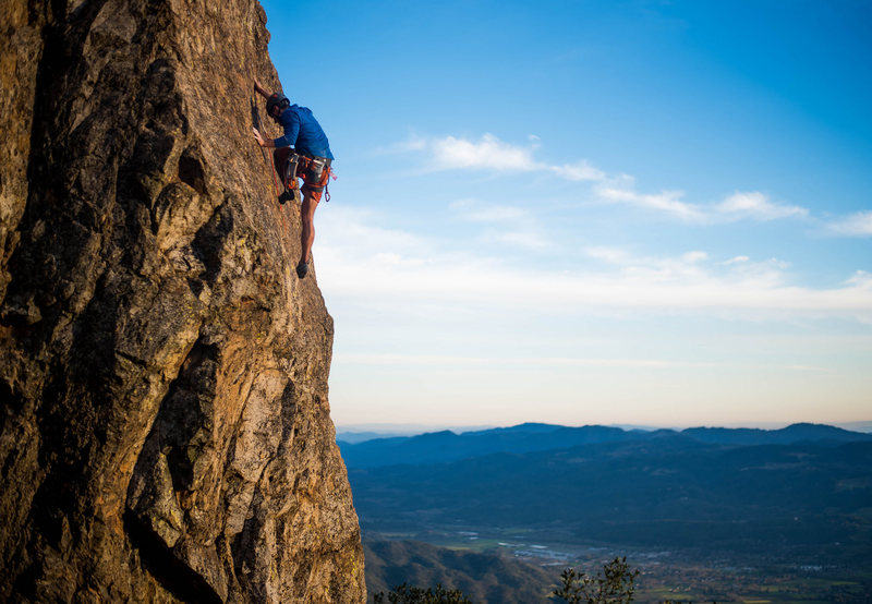 Rock Climbing Photo: leading Hailstone Arete