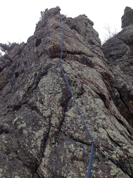 Rock Climbing Photo: The second pitch.