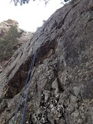 Rock Climbing Photo: Another view of the 1st pitch, basically the cente...