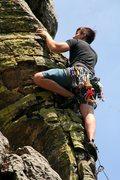 Rock Climbing Photo: Leading Air