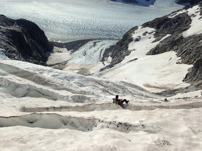 Descent to Mendenhall Glacier proper