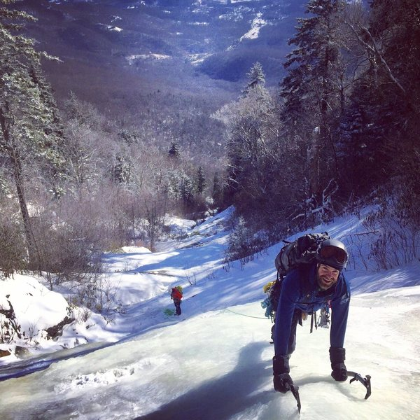 """Andrew Hawley crushing the first real """"pitch"""" of ice"""
