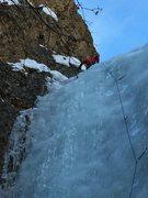 Rock Climbing Photo: Carl Dec places an anchor at Bowling Ball Head