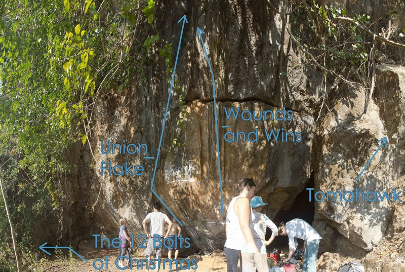 Rock Climbing Photo: Natyaykan Wall Topo