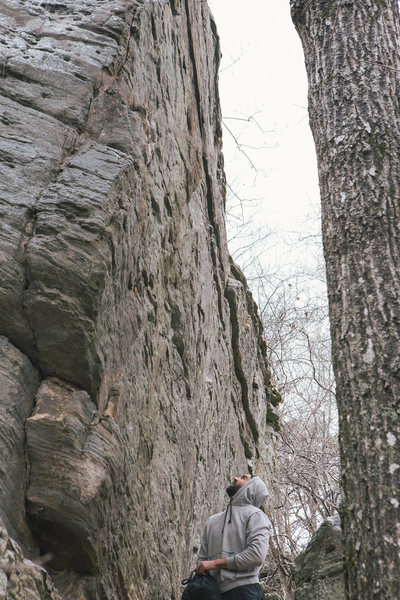 """The master, the student"" Ive got three highball lines left to do in Missouri, this is one of them. The topout is the crux!"