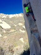 Rock Climbing Photo: B. Hargis on the unamed 10c!!!!