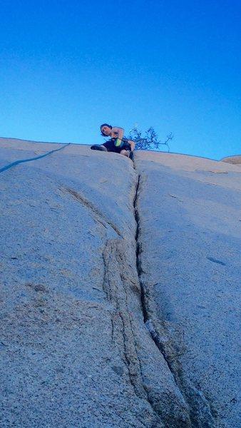 Rock Climbing Photo: Hunter Reinig on the steller finger crack that is ...