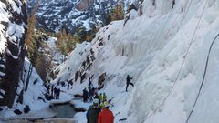 Rock Climbing Photo: High rope density in South Park on Saturday, and n...