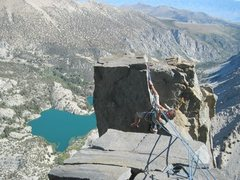 Rock Climbing Photo: Alpine tyrolean!!!