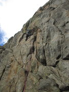 Rock Climbing Photo: Jason Haas leads on the route Saturday Treat (5.8+...