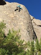 Rock Climbing Photo: Enjoying the space and sense of exposure on this r...