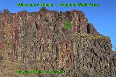 Rock Climbing Photo: Asylum Wall - Lower Tier - Right  DD.  Nurse Ratch...
