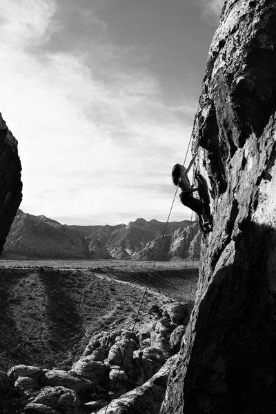 Rock Climbing Photo: TR warrior kim training for the return on the shar...
