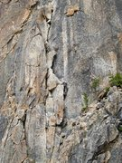 Rock Climbing Photo: Unknown climber on p2 of Becky Route, Liberty Bell...