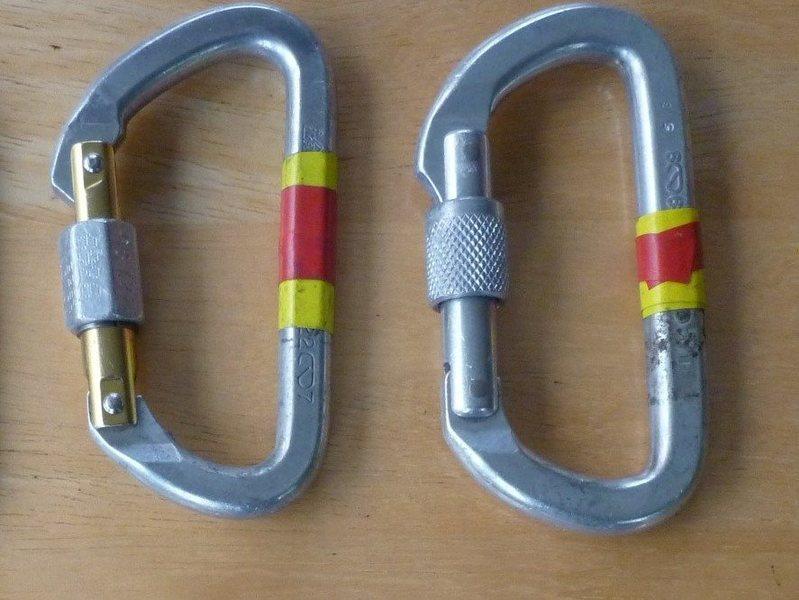 Rock Climbing Photo: locking biners