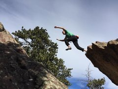 Rock Climbing Photo: Nick showing perfect form at the jump.  Photo: Dav...