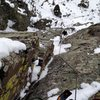 Looking down the route from the belay.