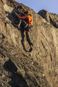 Rock Climbing Photo: reaching through the upper crux, it is actually a ...
