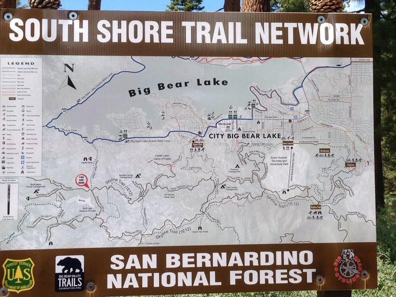 Rock Climbing Photo: South Shore Trail Network, Big Bear South