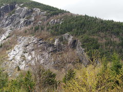 """Rock Climbing Photo: Right side of """"Right Section"""" from about..."""