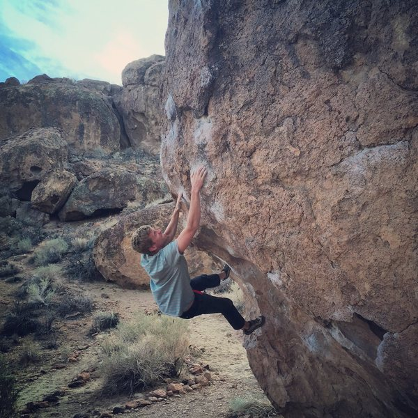 Rock Climbing Photo: Serengeti, Happy Boulders, Bishop CA