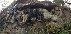 Rock Climbing Photo: Middle Section of the cliff. Probably will hold ma...