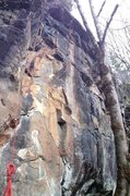 Rock Climbing Photo: Technical and hard face up to cool moves through t...