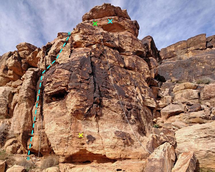 Rock Climbing Photo: B - Parking Slot route X - bolt anchors