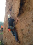 Rock Climbing Photo: Starting up The Green Mile