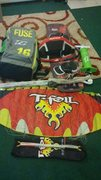 Kiteboard set up, gently used. Still in great condition.