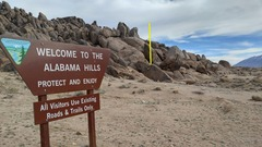 Rock Climbing Photo: Erin's Valentine can be seen from this sign on the...