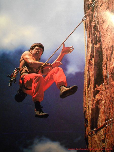 Rock Climbing Photo: Ric Geiman - Unusual Weather.  Photo by Dan Heiden...