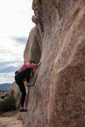 Rock Climbing Photo: Tinna working her way up
