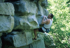 Rock Climbing Photo: Steve Downes on Extreme Unction