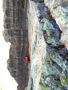 Rock Climbing Photo: Chuck crushing some classic Arkansas sandstone!