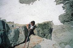 Rock Climbing Photo: Fran Bagenal at the crux
